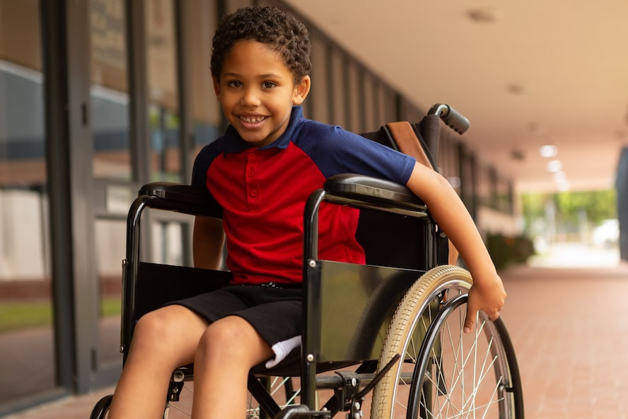 Child using a rented wheelchair - Cloud of Goods