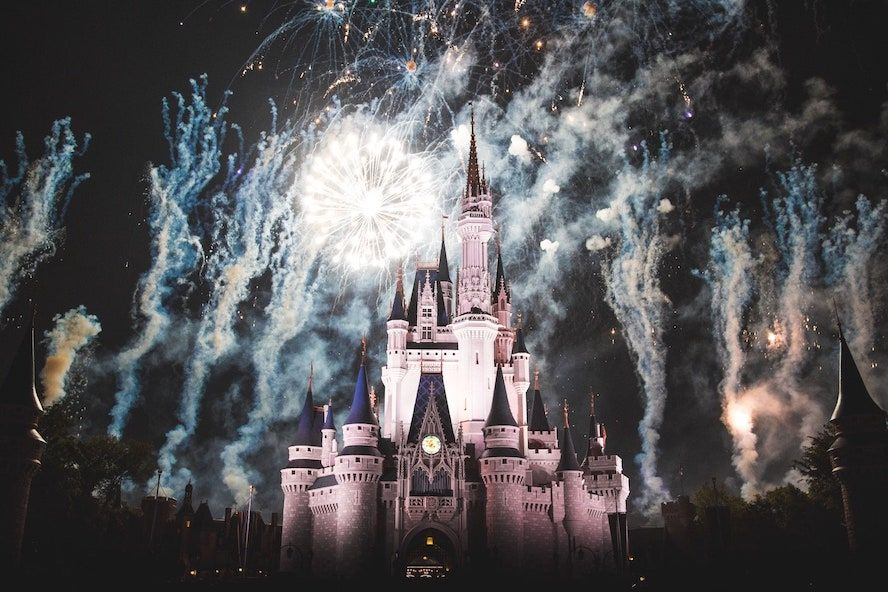 Disney World at night and fireworks - Cloud of Goods